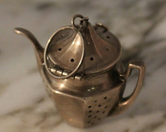 1940s Sterling Silver Tea Strainer Pendant. One of a kind, great gift and great conversation piece.