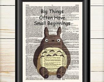 Totoro, Studio Ghibli, My Neighbor Totoro, Quote Retro Poster, Hayao Miyazaki, Anime Poster