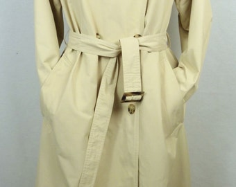 Trench coat vintage - vintage beige raincoat - vintage - light beige Trench - RAMOSPORT trench coat - size 40 (Size L)