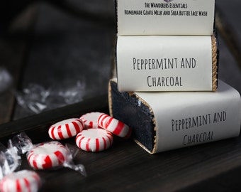 Peppermint and Charcoal Face Wash Bar