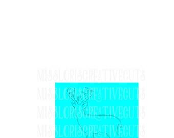 Rhinestone template buck   SVG   cut file  t-shirtsscrapbook vinyl decal wood sign cricut cameo Commercial use
