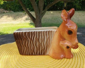 Vintage Deer and Fawn Planter