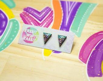 Kaleidoscope Sparkle Stud Earrings