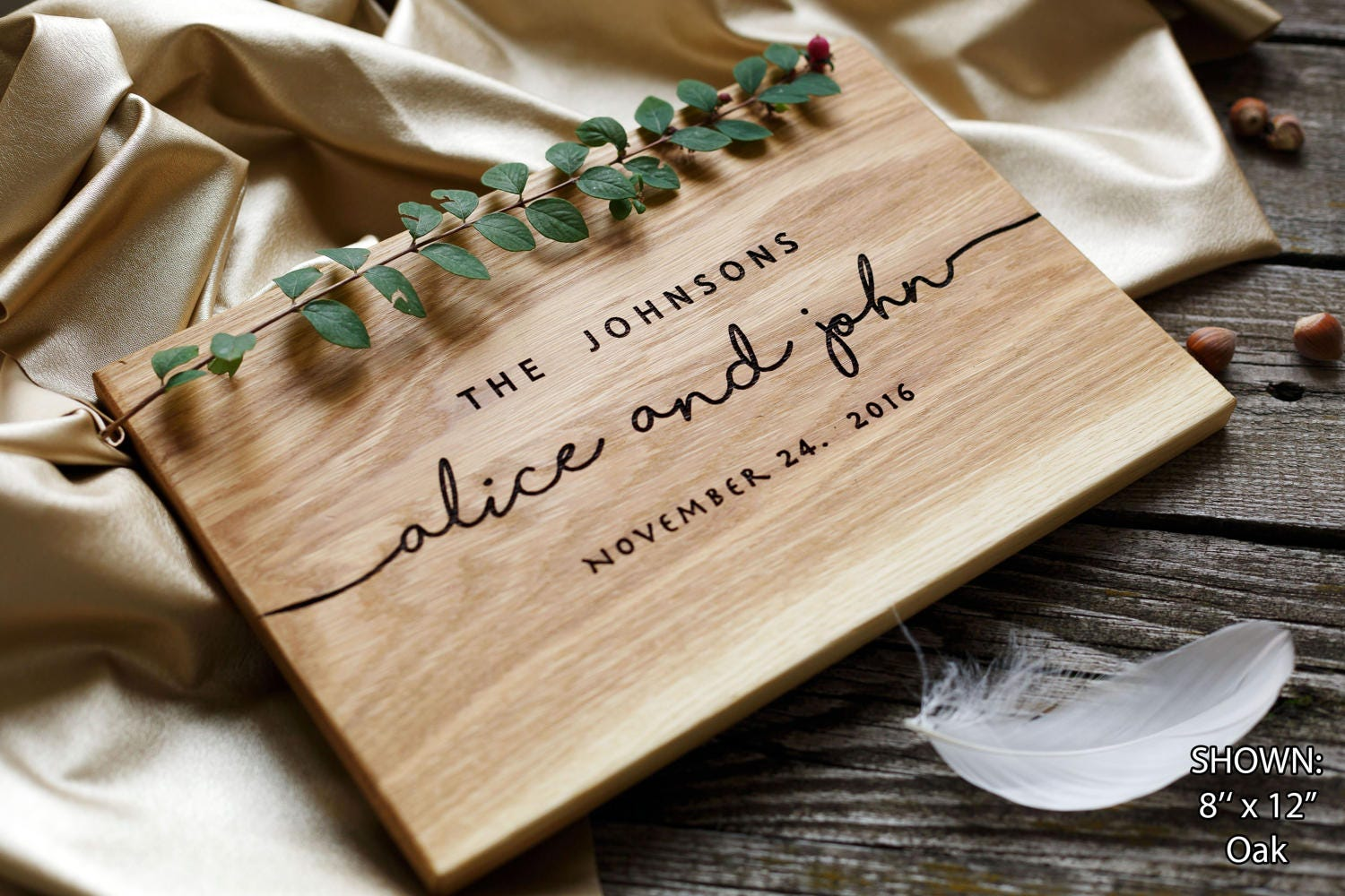 Engraved Wedding Party Gifts: Wedding Gift Personalized Cutting Board Gift For Couple Unique