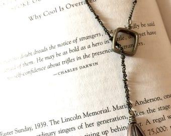 Brass Tear Drop Necklace