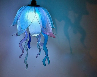 "Chandelier ""Floating Jellyfish"" / Free Shipping"