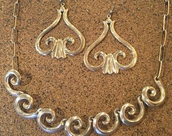Sterling Silver Swirl Set