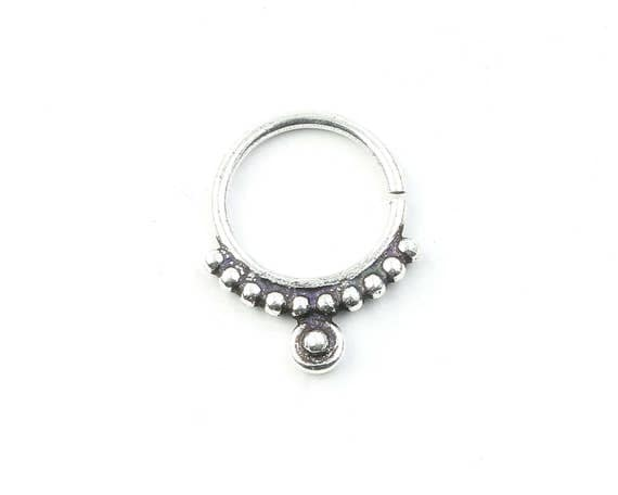 Septum Ring, Nose Ring, Body Jewelry, Tribal Septum Ring, Indian Nose Ring, Ethnic Septum Ring, Septum Piercing, Septum Jewelry.