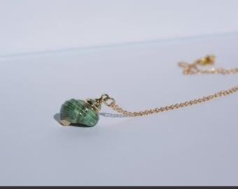 Seashell pendant / Beach necklace pendant / Seashell gold necklace / Seashell necklace / Mermaid pendant necklace