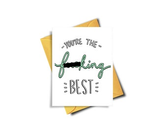 Funny Mother's Day Card, Mother's Day Card Funny, Funny Thank You Cards, Thank You Cards, Funny Birthday Card, Card For Boyfriend Girlfriend