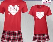 Couples Pajamas Initial H...