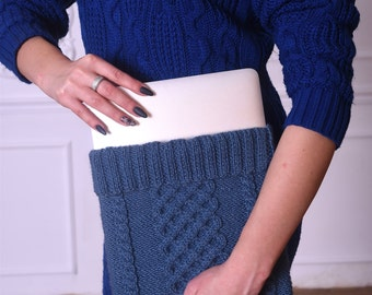 Knit Laptop Case - Laptop sleeve - Macbook Air case - Laptop case Pro/Air/iPad case - iPad sleeve - iPad Mini cover - Laptop Knitted Case