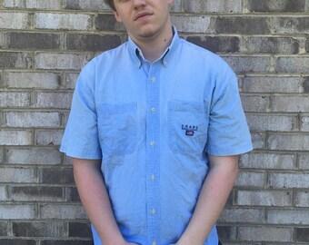1 DOLLAR SHIPPING // Short Sleeve Ralph Lauren Chaps Button Up