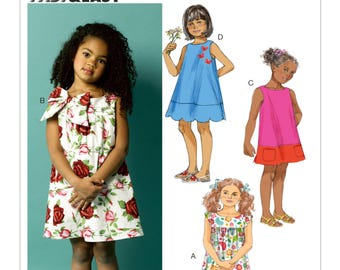 Sewing Pattern for Children's/Girls' Dresses, Toddlers'/Children's Tent Dresses, Butterick Pattern 5876, Summer Dress, Very Easy Sew