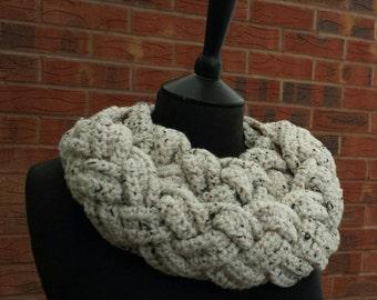 Crochet, scarf, infinity scarf, braided scarf, crochet cowl, chunky, chunky scarf, braided, womens scarf, crochet neckwarmer, winter scarf