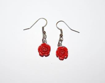 Red Rose Earrings, Earrings, Rose Jewelry, Ear Jewelry, Roses, Red Roses, Piercings