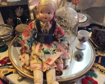 Vintage doll, ethnic doll, folk doll, souvenir doll, Polish doll, doll