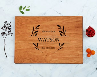 Rustic Wedding Gift Cutting Board Personalized Engagement Gift For Couple Anniversary Gift For Husband New Home Housewarming Gift Home Decor