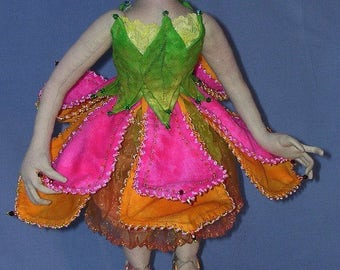NH702E – Tulip, Cloth Fairy Doll Pattern