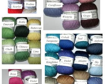 Merino Lace ~ Cobweb weight equivalent - buy 5 get 6th free