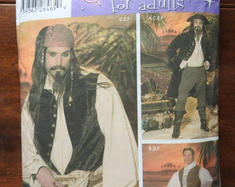 Simplicity 4923 Men's Pirate Costume Sewing Pattern