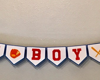 Custom Baseball Themed Baby Shower Banner - Baby Boy Party Sign