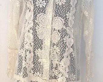 Vintage lace jacket Sonya Ratay for San André Size 38-40 FR