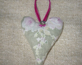 Handmade Lavender filled Hanging Heart Decoration