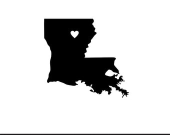 Louisiana Stencil Etsy
