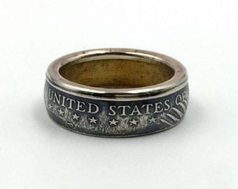 One Dollar American Eagle Coin Ring
