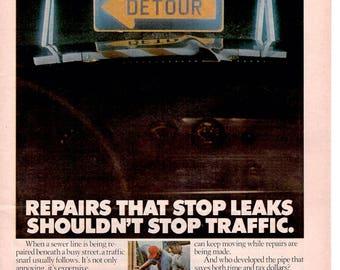 1975 Phillips Petroleum vintage magazine ad wall decor shop decor 1705