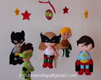 Super Heroes mobile, Super Heroine Mobile , Heroes Mobile BB, Robin,Batman, Aquaman, Super Man,Hawk Girl