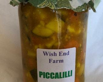 Piccalilli Homemade Chutney 350g Food Gift, Gift for Him, Chutneys, Teacher Gift, Mustard Chutney, Spicy Chutney, Hostess Gift, Christmas
