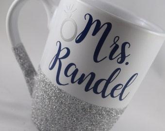 Mrs. Coffee Mug, Mrs Gift, Mrs Present, Wedding Coffee Mug, Glitter Coffee Mug, Future Mrs Gift, Future Mrs Coffee Mug, Future Mrs, Mrs