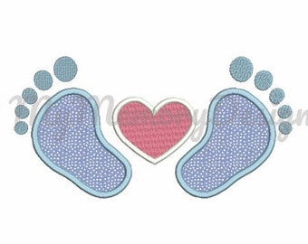 Baby feet  applique - Feet applique digital design  -  Machine embroidery design , girl ,  boy , baby embroidery design, 4x4 5x7 6x10 size