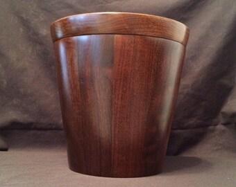 Mid Century Modern Walnut Ice Bucket, Margaret Studios, Inc.