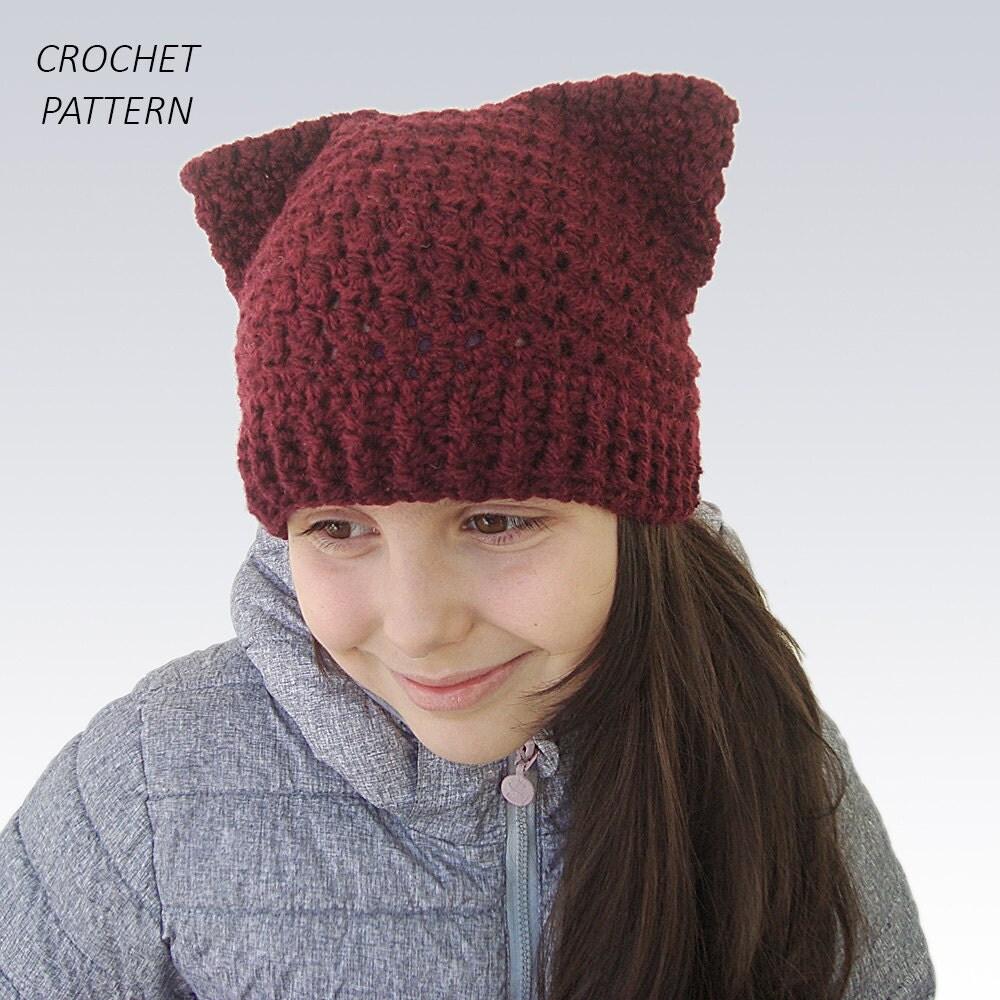 Cat hat crochet pattern winter pussy cat ear beanie crochet zoom bankloansurffo Gallery