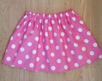 Minnie Inspired Boutique Light Pink Big Dot Twirl Skirt, Minnie Inspired Boutique Lipstick Red Polka Dot Twirl Skirt