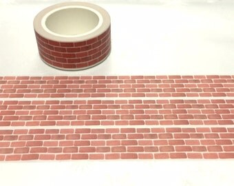 red brick washi tape 10M x 2 cm brick pattern brick house wall sticker tape classic brick wall paper masking tape doll house decor gift