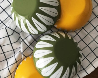 Cathrineholm Green Lotus Bowls