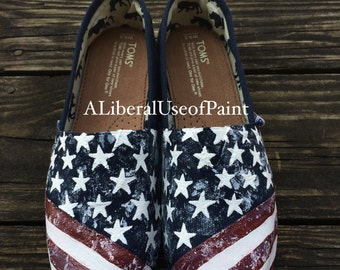 Vintage American Flag - Hand Painted Toms