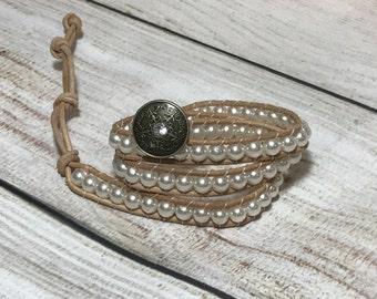 Chan Luu Style Bracelet, Pearl Wrap Bracelet