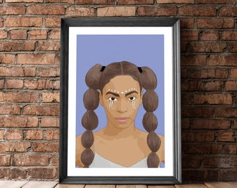 Poster Beyonce, Beyonce Poster, Beyonce Portrait Poster, Beyonce Wall Decor, Beyonce Gift, Posters and Prints, Beyonce Lemonade