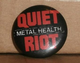 Vintage Quiet Riot, Metal Health Button