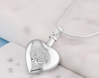 Silver memorial DIY Tree of life Urn necklace