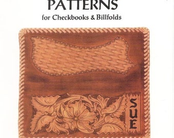 Sheridan Style Checkbook Leather Patterns by Chan Geer (Leathercraft Designs) [DIGITAL DOWNLOAD]