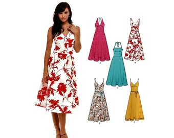 2000 Sewing Pattern - New Look 6557 - Halter Sundress