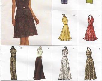 Vogue Easy Options Halter Dresses Pattern 2530