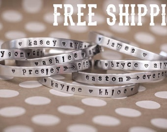 Custom Stamped Bracelet Cuffs! What do you want YOURS to say?!