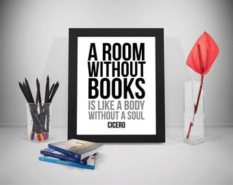 Books Poster, Room Print, Book Quote, Education Print Art, Library Inspirational Prints, Reading Prints Poster